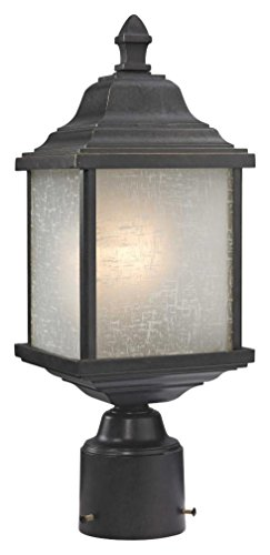 Dolan Designs 932-68 Charleston Outdoor Post Light with White Linen Glass Winchester ()