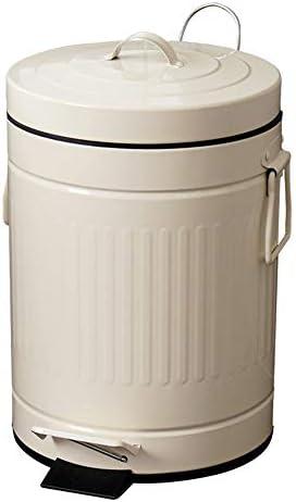 ゴミ箱 8L容量ラウンドペダルゴミ箱ヨーロッパのレトロな家庭用ゴミ箱 キッチン、バスルーム、オフィスに最適 (Color : Beige, Size : 8L)