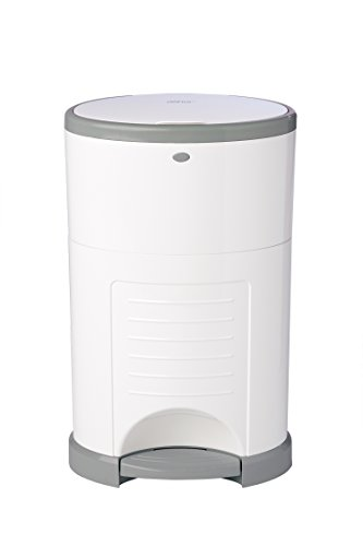 Dekor Classic Hands-Free Diaper Pail | Easiest to Use | Just Step - Drop - Done | Doesn't Absorb Odors | 20 Second Bag Change | Most Economical Refill System | White