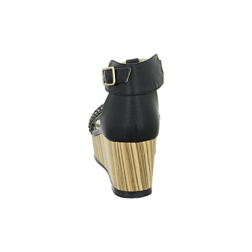 BULLBOXER 144002F2S - Sandalias de vestir de Material Sintético para mujer Talla única talla única negro