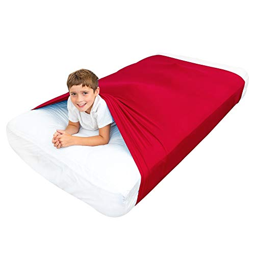 Cheap Special Supplies Sensory Bed Sheet for Kids Compression Alternative to Weighted Blankets - Breathable Stretchy - Cool Comfortable Sleeping Bedding (Red Queen) Black Friday & Cyber Monday 2019