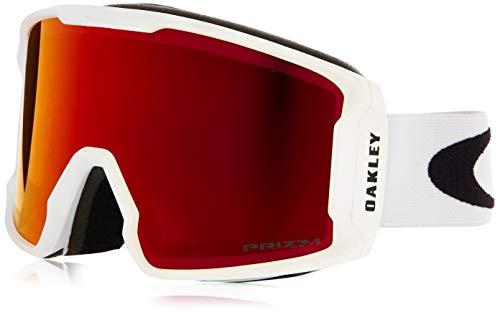 Oakley Line Miner Asian Fit Snow Goggle, Matte White, Medium, Prizm Torch Iridium ()