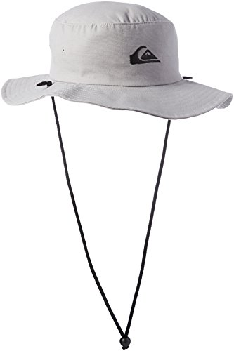Quiksilver Men's Bushmaster Floppy Sun Beach Hat, Steeple Grey, Large/X-Large (Hat Summer)