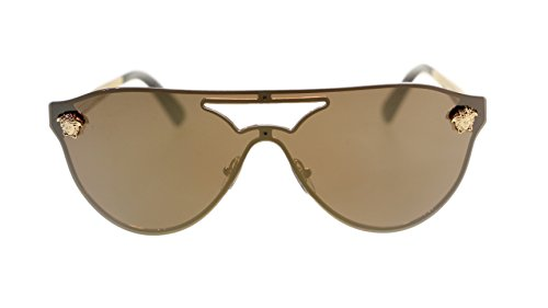 Versace Womens Sunglasses VE2161 1002F9 Gold/Brown Mirror Gold - Versace Shades Dark