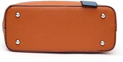 3 in 1 Colore Solido di Modo Tipo Benna di Spalla della Borsa Jianmeiliao (Color : Red) Brown