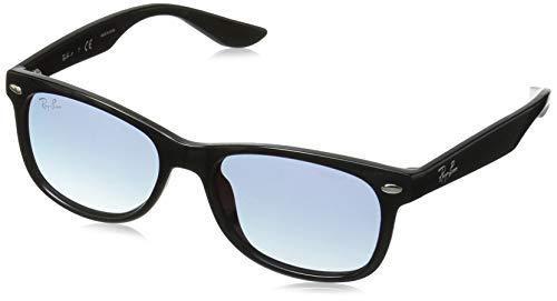 Ray-Ban Junior RJ9052S New Wayfarer Kids Sunglasses, Black/Blue Mirror Red Gradient, 47 ()