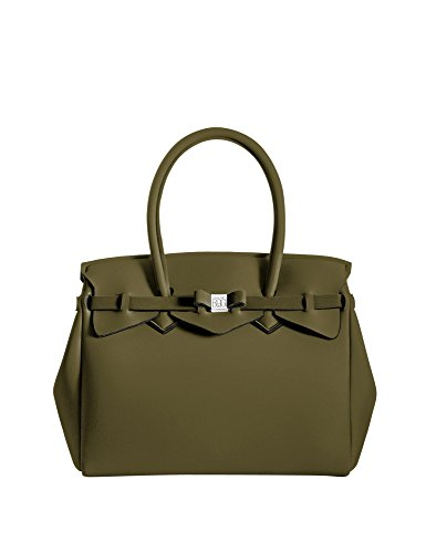 bag 34x29x18 Kaki Borsa cm L Donna a Verde save x H Miss W Mano my x HqRx5Sg
