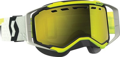 Scott Prospect Adult Snowmobile Goggles - Black/Yellow/Chrome/One Size by SCOTT