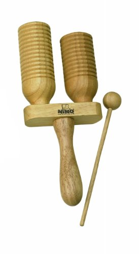 Nino Percussion NINO560 Wood A-Go-Go, 2 Rows, Natural Finish