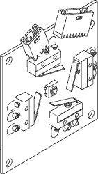 Switch Back PCB Assembly for Pelton & Crane PCB723