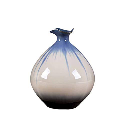 Vase FJH Ceramic Jingdezhen Porcelain Home Decoration Ornaments Living Room Flower Arrangement Bottle (Size : 2316cm)