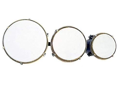 RAM musical Bongo Drum set set of 3 -Brown Black