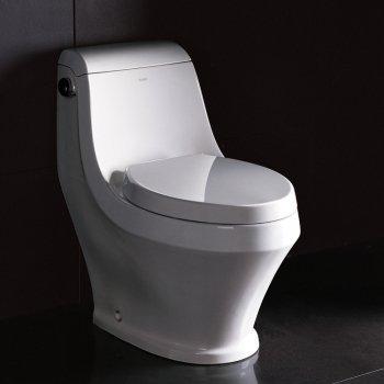 Ariel TB133M Ariel Platinum Adonis Contemporary One Piece White Toilet