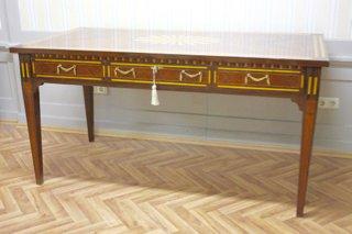 Louisxv baroque desk antique style bureau plat mosr amazon