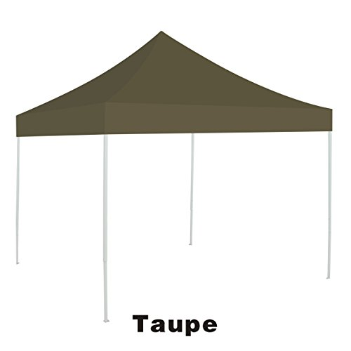 Single Replacement Flap - BenefitUSA G241-TAUPE Top for Ez pop Up 10'X10' Gazebo Cover Patio Pavilion plyester-Taupe Canopy Replacement
