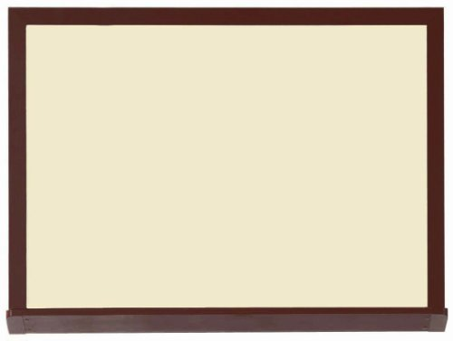 Architectural High Performance Magnetic Wall Mounted Whiteboard Surface Color Low Gloss White V2, Size: 3' H x 4' W, Frame Finish: Walnut Wood Grain