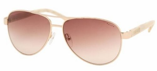 Ralph By Ralph Lauren RL-RA4004 - 101/13 Gold and Cream with Brown Gradient Lenses Women's - Lauren Sunglasses
