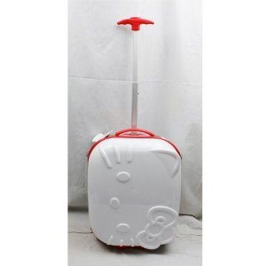 Image Unavailable. Image not available for. Color  Hello Kitty 18 quot  Rolling  ABS Luggage Bag Hard Suit Case- ... 6c248635b3