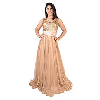 Silver Line Brown Mixed Special Occasion Dress For Women