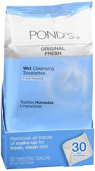 Ponds Wet Cleansing Towelettes Original Fresh - 30 ea, ...