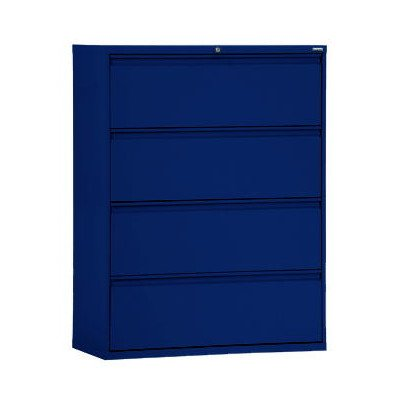 (Sandusky Lee LF8F364-A6 800 Series 4 Drawer Lateral File Cabinet, 19.25
