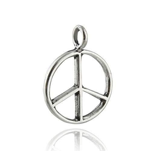 Peace Sign Pendant - 925 Sterling Silver- Anti War Activist Hippie Hippy 60's - Jewelry Accessories Key Chain Bracelets Crafting Bracelet Necklace Pendants