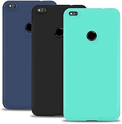 Caselover 3X Funda Huawei P8 Lite 2017, Suave TPU Silicona Carcasa para Huawei P8 Lite 2017 (5.2 Pulgadas) Ultra Delgado Flexible Goma Mate Opaco ...