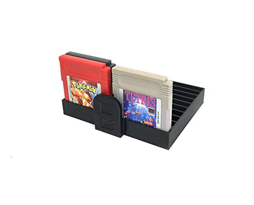 Collector Craft Black Game Organizer Compatible with Nintendo Game Boy Cartridge, Dust Cover, Cartridge Holder, Gameboy Advance, Gameboy Color