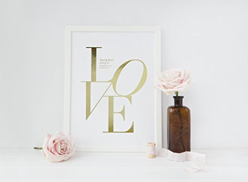 Love Poster, Every love story is beautiful Print, Love Quote, Love Print, Typography Poster, Minimalist Poster, Home Art, Bedroom Print