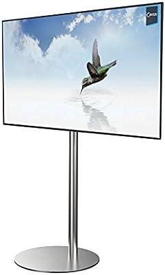 Cavus – High-End Diseño TV Soporte Acero inoxidable – TV stand redondo – VESA – Soporte de televisión apto para 32