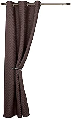 Tony S Textiles Seville Chocolate Thermal Door Curtain Reduces