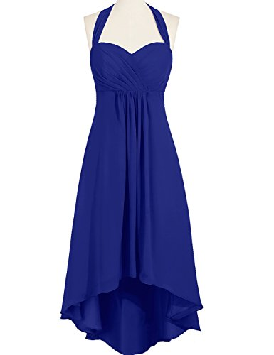 Halter Prom Blue Women's Royal Evening Low Duraplast Dress High Gown 50wx7p47