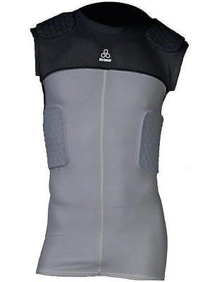 McDavid Youth Hexpad Sleeveless 5 Pad Bodyshirt - Grey/Black Small (Mcdavid Youth Hexpad 5 Pad)