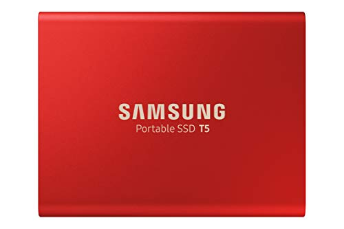 Samsung T5 Portable SSD - 1TB - Metallic Red - USB 3.1 External SSD (MU-PA1T0R/WW)