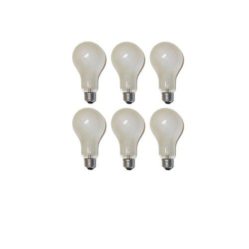 Eiko ECA Photoflood Lamp Bulb, 120V 250W, 6500 Lumens, Inside Frosted, A-23 Bulb, Medium Screw E26 Base, C-9 Filament, 3200K, Bar Code 01970, Pack of 6 Bulbs