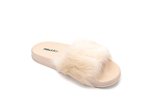 Slip Slipper Non Outdoor Beach Ashley Shoes Sandals A for Womens Collection Flip Indoor Casual Flops Fur nude 4gSAIq
