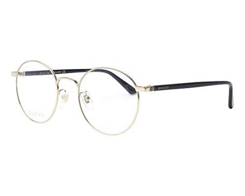 Gucci GG0297OK Eyeglasses 001 Gold/Black 52 mm ()