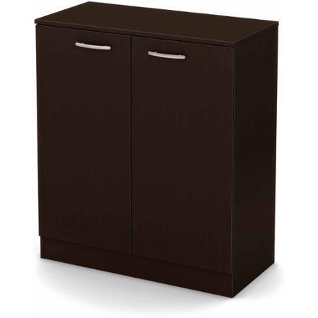 South Shore Smart Basics 2-Door Storage Cabinet, Chocolate