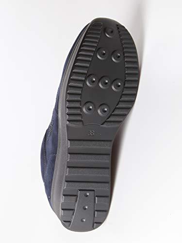 Donna Sneakers Blu Tessuto Scamosciato Effetto wwSZanqE1C