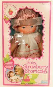 Baby Strawberry Shortcake Blow Kiss Doll Vintage 1982 New