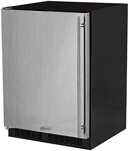 AGA Marvel ML24FAS1LS Under-Counter Freezer with Lock, Stainless Steel Left Hinged Door, 24-Inch