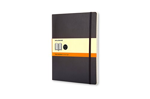 Moleskine Classic Notebook, Extra Large, Ruled, Black, Soft Cover (7.5 x 9.75) (Classic Notebooks)