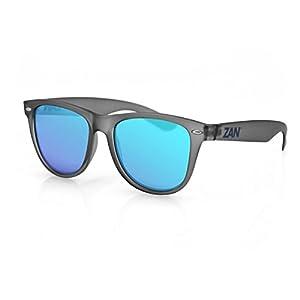 4008225 ZANheadgear Minty Sunglass W/Matte Gray-Smoked Blue Mirror