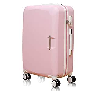 GLJJQMY 20 Inch Password Box 22 Inch Female Suitcase Trolley Case Suitcase Boarding, Pink Trolley case (Size : 22inch)
