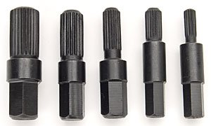 JEGS W80635 5-Piece Bolt Extractor Set