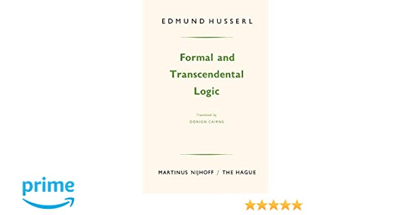 Formal and Transcendental Logic