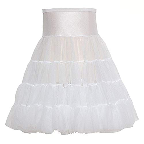 ICM Toddler Girls White Tea Length Bouffant Nylon Petticoat Half Slip 3T ()