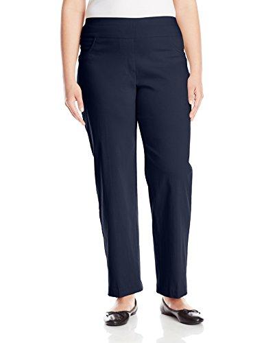 (Ruby Rd. Women's Plus-Size Plus Pull-On Solar Millennium Super Stretch Pant, Navy, 24W)