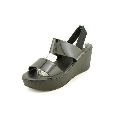 - Charles by Charles David Womens Francis Black/Black Patent/Elastic Sandal 6 M