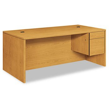 Hon 10500 Series - HON 10585RCC 10500 Series Large -Inch L-Inch or -Inch U-Inch Right 3/4-Height Ped Desk, 72 x 36, Harvest